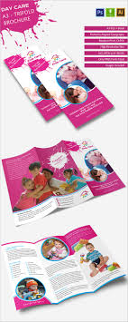 daycare brochure templates psd eps illustrator ai elegant day care a3 tri fold brochure daycare a3trifold brochure