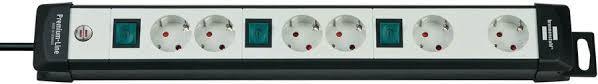 1951560600 <b>Brennenstuhl удлинитель Premium</b>-<b>Line</b>, 3 м., <b>6</b> ...