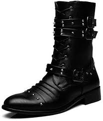 Mens Martin Boots Studded <b>Men's Shoes British Fashion</b> Boots ...