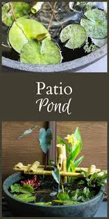 diy patio pond: a patio pond can be the perfect solution for those who love the sound and beauty