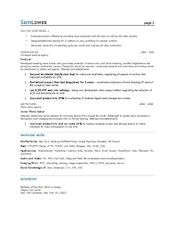 sample resume marketing | Template