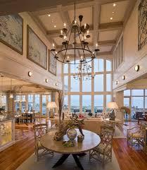 themed living room design tall ceiling