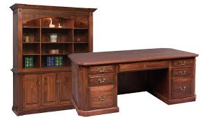 canted executive amish built home office