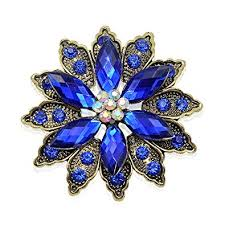 Vintage Flower Brooch for Women - Crystal ... - Amazon.com