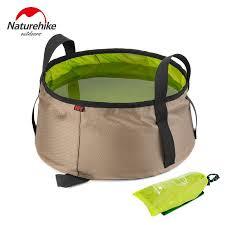 NatureHike 10L Water Washbasin <b>Ultralight Portable</b> Outdoor <b>Nylon</b> ...