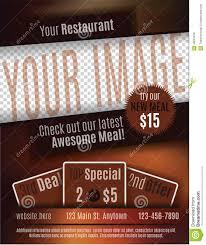 restaurant coupon flyer template stock vector image  restaurant coupon flyer template