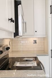 subway kitchen white subway tile backsplash with gray grout