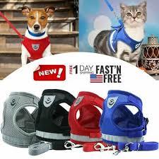 <b>Pet Control Harness</b> W/ Leach for Dog Soft Mesh Walk Collar Safety ...