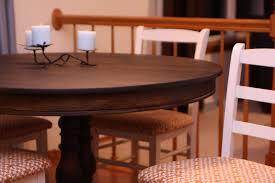 Restaining Kitchen Table Refinishing Kitchen Table And Chairs Ideas Cliff Kitchen