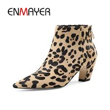 <b>ENMAYER Women Ankle boots</b> Shoes Size34 39 Causal Horse hair ...