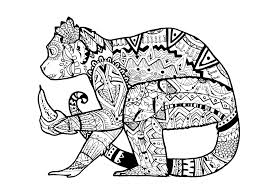 Small Picture Animals Coloring pages for adults JustColor