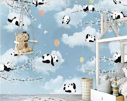 <b>beibehang Customized simple cartoon</b> cute panda warm moon ...