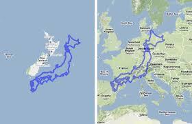 「世界の国土形状でモノに見立てる例」の画像検索結果