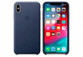 Купить <b>Чехол Apple Leather Case</b> для iPhone XS Max, тёмно-синий