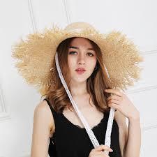 Mega Sale #bba0 - JIYOUOU Lace Strap Straw Hat Bow Wide Grass ...