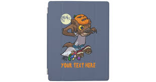 Little Werewolf <b>Halloween</b> Trick Or Treat <b>Cartoon</b> iPad Smart Cover ...
