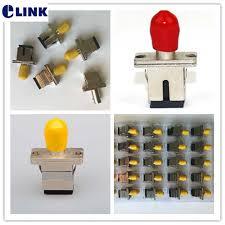 <b>SC</b> ST fiber <b>adapter Simplex SM</b> MM yellow red optic fiber coupler ...