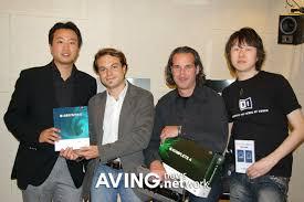 (사진 설명 : Native Instruments사의 CEO 'Daniel Haver', Sales Manager 'Adrian Stoger' 심스뮤직과 큐오넷 관계자) - 20070427122401590