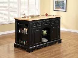 furniture magnificent rectangle shape black wooden kitchen island features brown color bamboo countertop and side amazing bamboo furniture design ideas