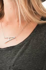 <b>Large</b> Initial <b>letter necklace</b> – Salted Avenue