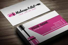 free make up business card template