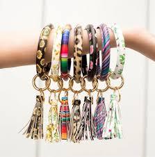 <b>New</b> Arrival PU Leather Big O <b>Keychain</b> Bracelet Tassel Drop ...