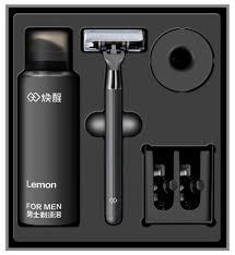 <b>Набор Xiaomi</b> пена, подставка, бритвенный станок Lemon H300 ...