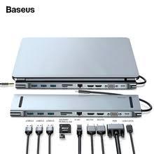 <b>Usb</b>-<b>хаб Baseus</b> Type-C 3,0, <b>USB</b> HDMI RJ45 <b>usb</b>-<b>хаб</b> для ...