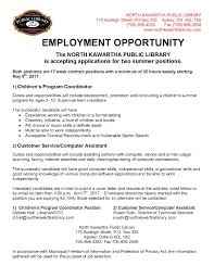 job opportunities north kawartha library employment opportunity