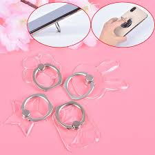 Universal <b>360 Rotating</b> Transparent <b>Cell Phone</b> Finger Ring Stand ...