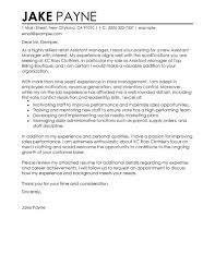 example of a cover letter for retail management position sample cover letter for retail job