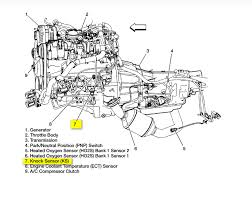 chevrolet silverado 1500 where is the knock sensor located