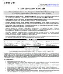 resume examples cv sample resume templates rso resumes 5 it service delivery manager