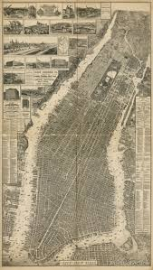 best images about vintage new york s new the city of new york map 1879