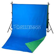 Двухсторонний тканевый <b>фон хромакей GreenBean Field</b> 240 х ...