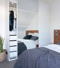 pax wardrobe lighting. fill your bedroom with double the light mirrored pax wardrobe doors great idea spotted pax lighting s