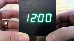 <b>Wooden LED</b> usb <b>alarm clock</b> Ebay - YouTube