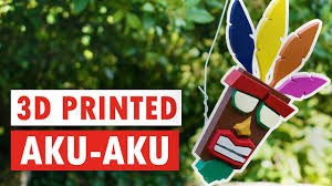 3D PRINTED <b>AKU AKU</b> - Crash Bandicoot - YouTube