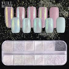 <b>12</b> Type/<b>box</b> Dazzling <b>Unicorn</b> Nail Glitter Dust <b>Mermaid</b> Effect Ab ...