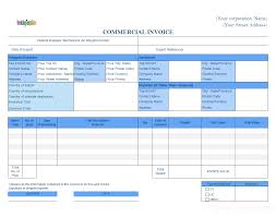 commercial invoice templates commercial template format adding insurance cost field