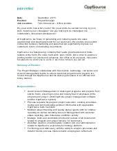 oppsource sales development software   linkedinproject management job description july