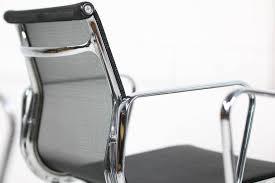 set of eight vitra office swivel chairs ea 108 charles ray eames chrome aluminium chair ea 108