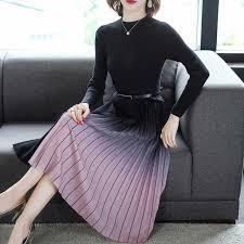 Fashion <b>Korean Sweater Dress</b> Women Knitted Sweaters Dresses ...