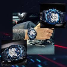 <b>Men Fashion Sport</b> Quartz <b>Watch</b> Luminous Military Leather Strap ...