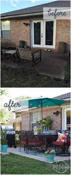 working creating patio: patio makeover i love how achievable this patio is tons of seating plants