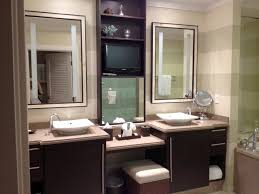 dual vanity bathroom:  bathroom mirrors for double vanity stool also bathroom vanity mirrors with rack for modern bathroom on