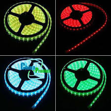 RGB <b>LED Strip Light</b> Set Flexible SMD5050 60LEDs 12V 5M/roll ...