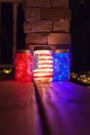 diy mason jars for memorial day red white and blue blue mason jar string lights