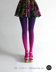 BZR Ombré tights in <b>Electric</b> | Ombre tights, <b>Fashion</b>, Ombre stockings