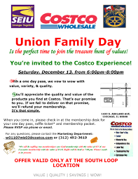 costco union family day